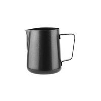 WATER/FROTHING JUG 0.6 LTR - BLACK FINISH