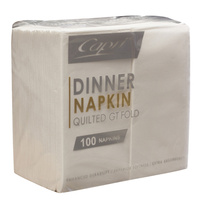 NAPKIN QUILTED DINNER P/F WHIT