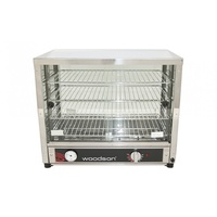 Woodson 100 Capacity Pie Display with Sliding Doors on Both Sides W.PIA100G