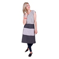 CAFE APRON LONG WAIST GREY-CHAMPAGNE