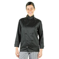 CHEF JACKET BLACK LARGE