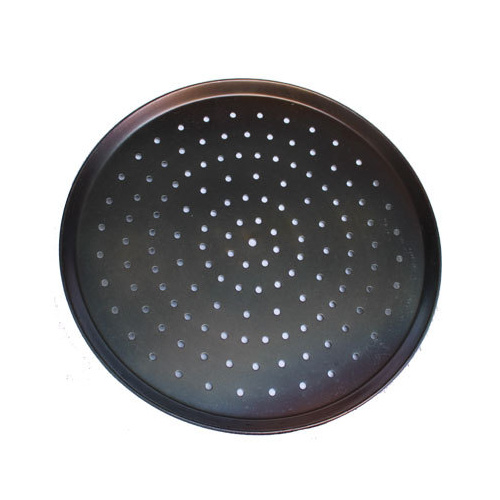 Perforated Black Steel Pizza Tray 9 inch
